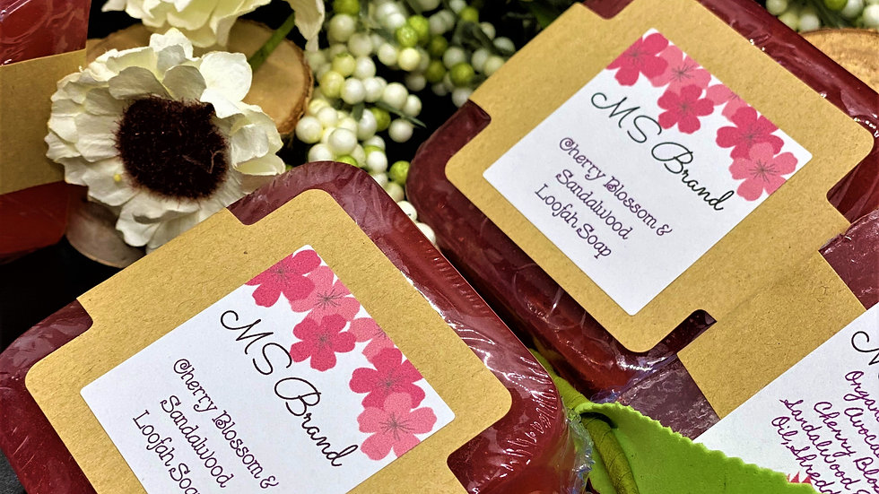 Cherry Blossom and Sandalwood Loofah Soap