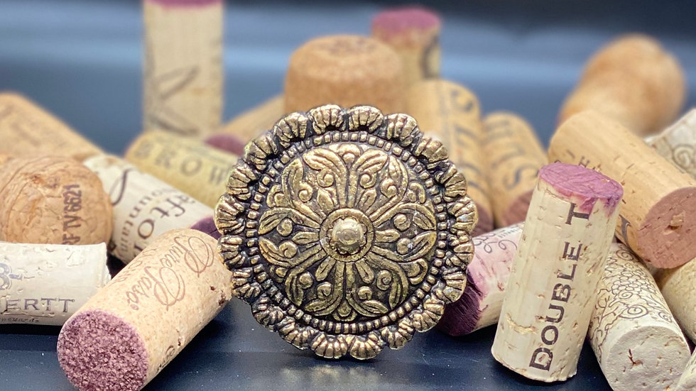 Gold Inlay Wine Cork Stopper