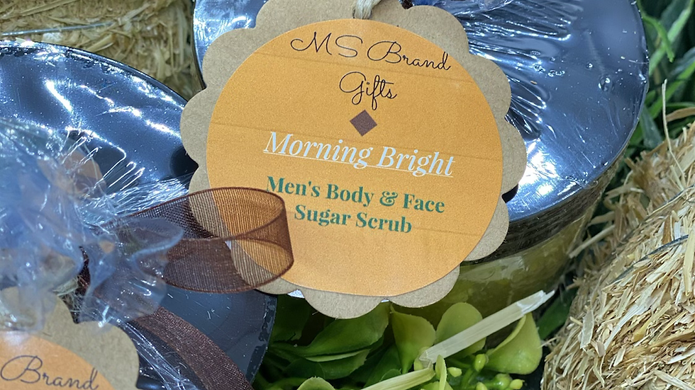 Morning Bright Men's Body & Face Sugar Scrub