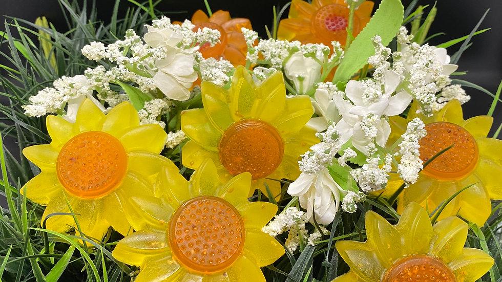 Orange Zest Sunflower Soap