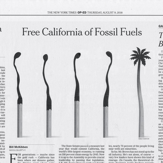 Californian illustration for The New York Times.  AD: Jim Datz