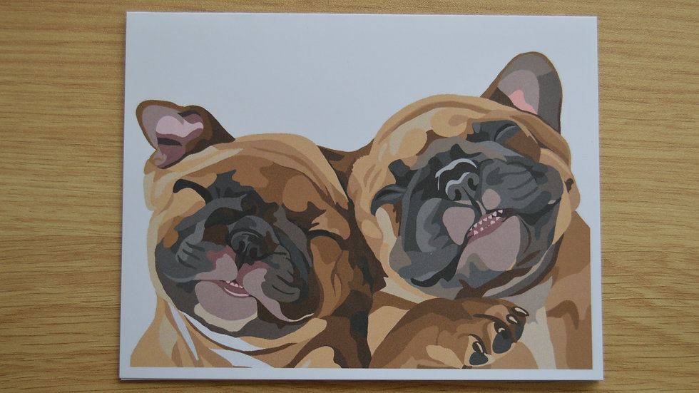 French Bulldog Puppies Stationary