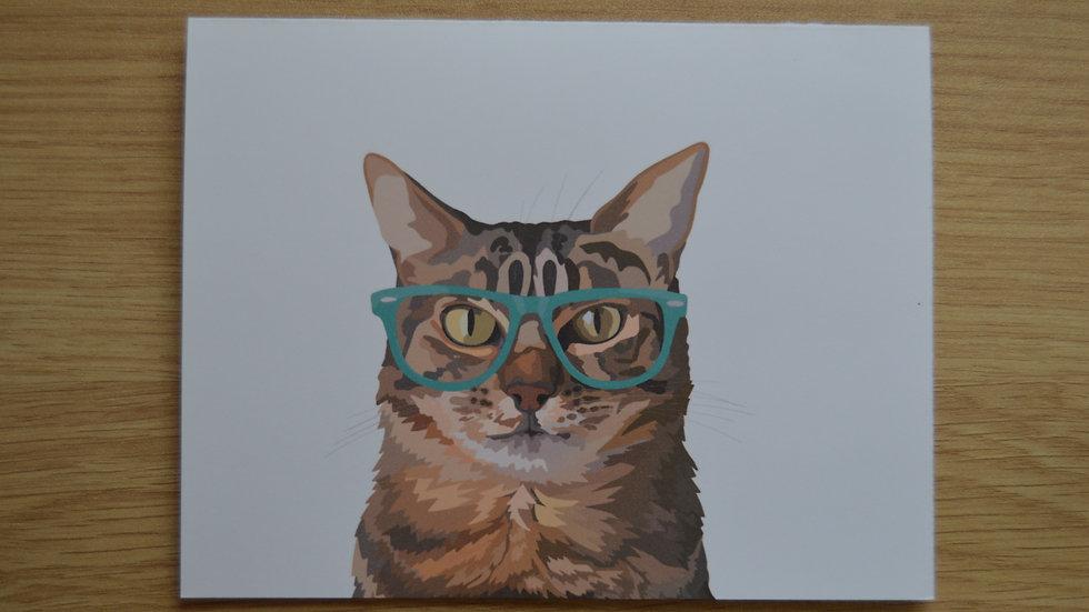 Glasses Cat Stationary