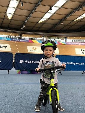 Young boy on bike