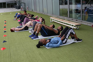 People doing outdoor training