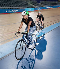 Track cyclists