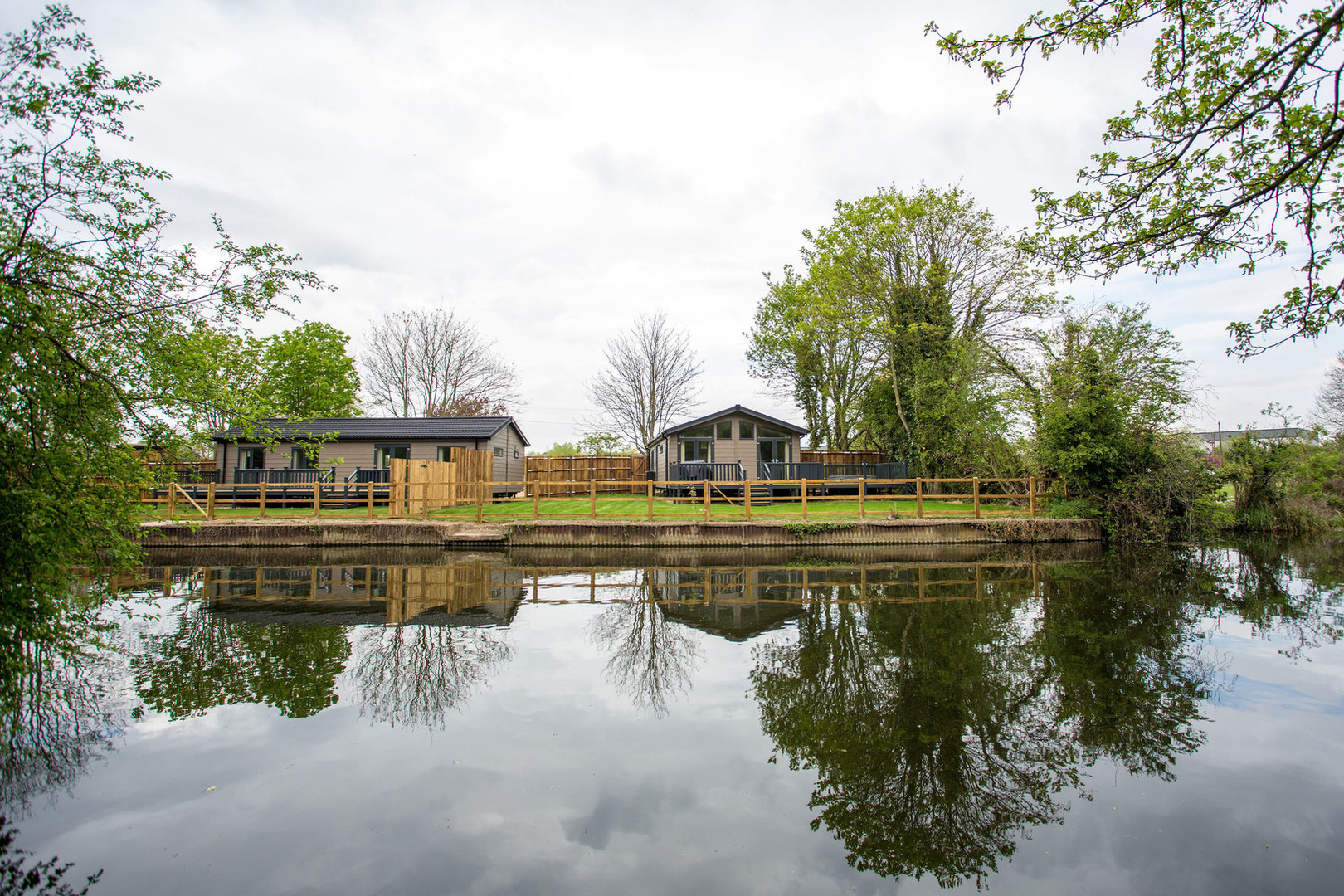 Luxury riverside lodges