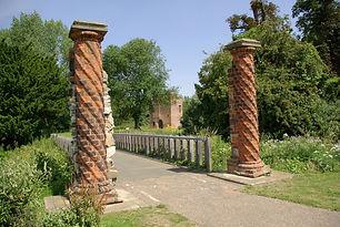 Pillars at Rye House Gatehouse