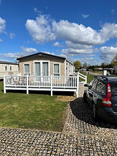 External view of a ABI Beaumont holiday home at Lee Valley Caravan Park