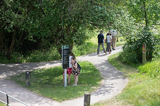 People walking in River Lee Country Park
