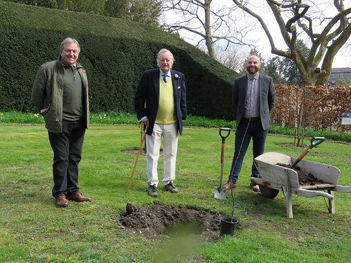 Tree planting at Myddelton House Gardens
