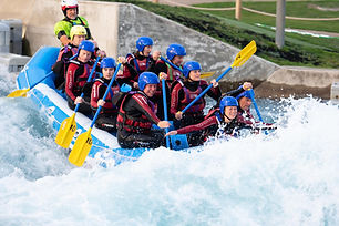 White water rafting on the Olympic course