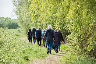 Group walking in the Lee Valley