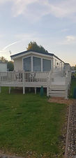 External view of a Willerby Eden holiday home at Lee Valley Caravan Park