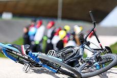 BMX bikes laid down