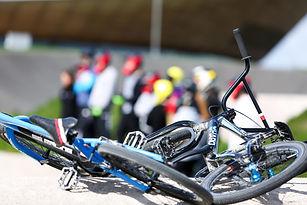 Close up of BMX bikes
