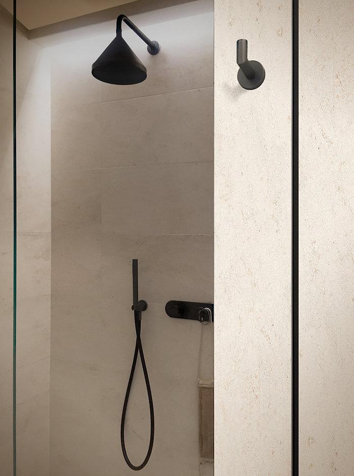 T&V Architects_Shower_Crema beige stone