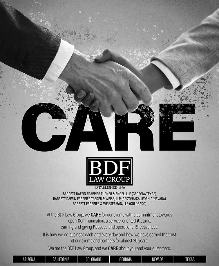 BDF Law Group BDF Group Barrett Daffin Frappier Turner & Engel, LLP  Barrett Daffin Frappier Treder & Weiss LLP Barrett Frappier & Weisserman, LLP