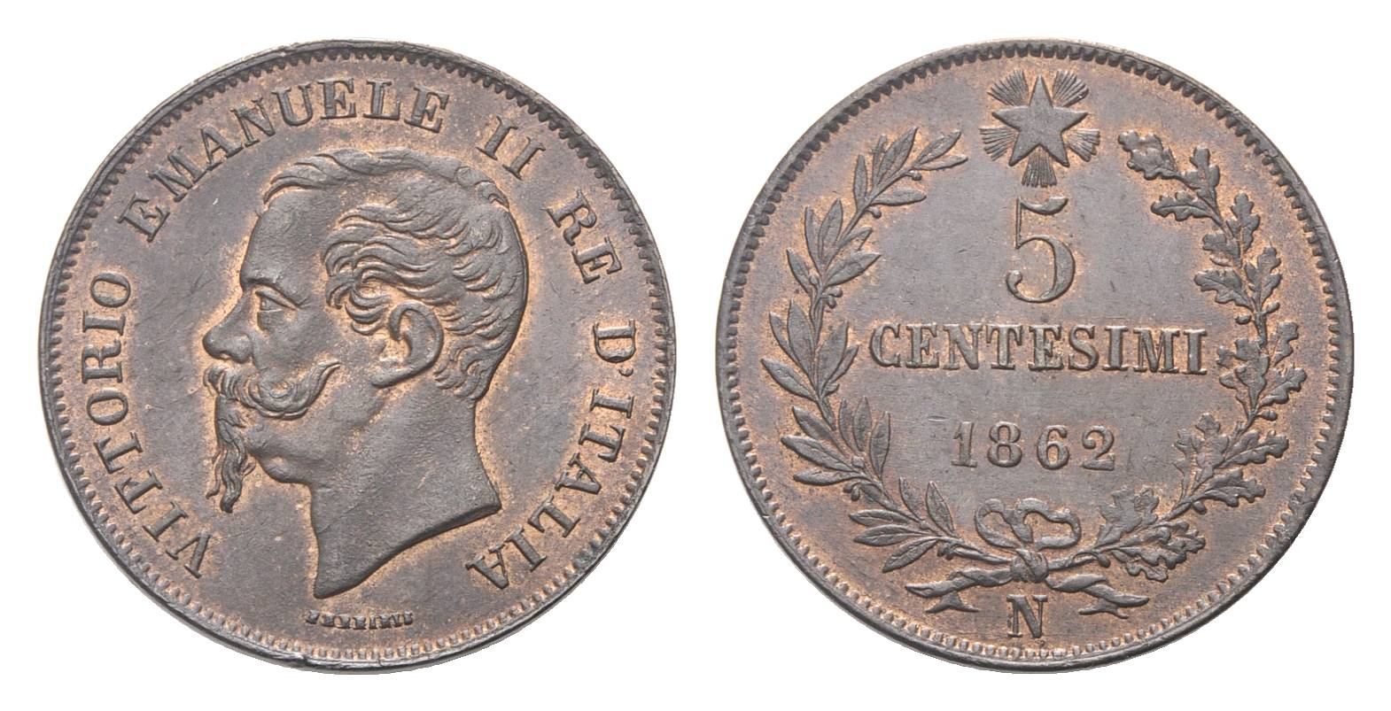 5 centesimi Re Vittorio Emanuele II