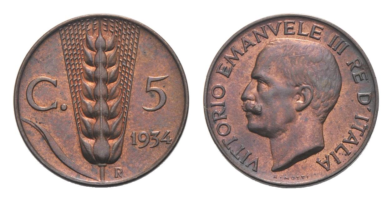 5 cent. Re Vittorio Emanuele III