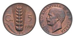 5 cent. Re Vittorio Emanuele III