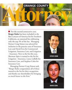 David Ezra, Best Lawyers 2016