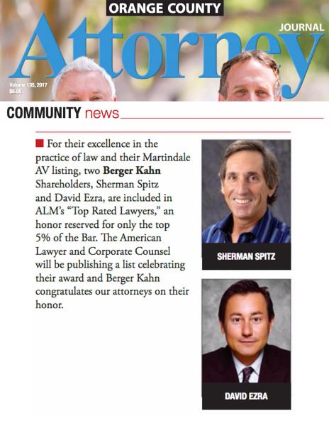 David Ezra, Attorney Journal