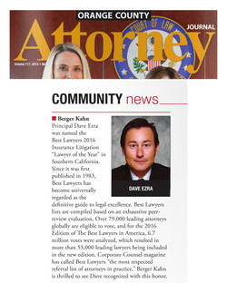 "David Ezra, ""Lawyer of the Year"""