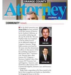 David Ezra, Best Lawyers Recognition