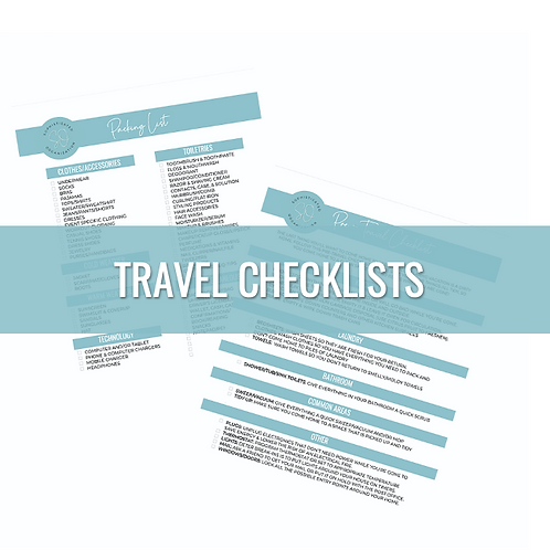 Pre-Travel & Packing Printable