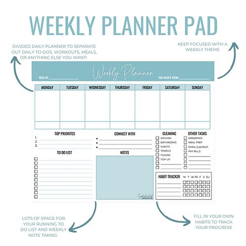 Weekly Planner Pad