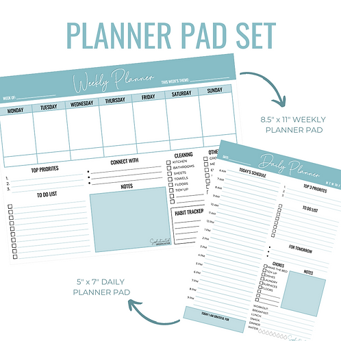 Daily & Weekly Planner Pad Set