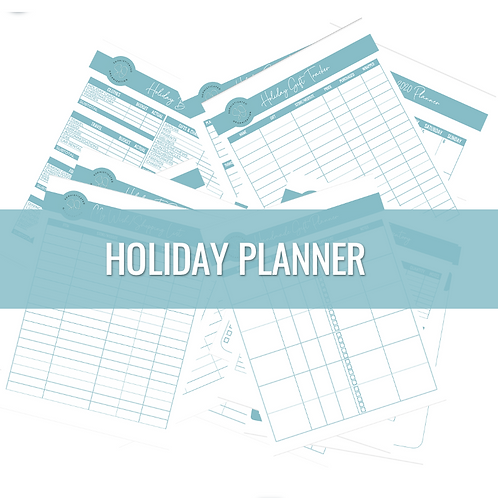 2020 Holiday Planner Printable Pack