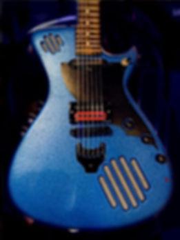New celestial metallic blue GuitarmaDill