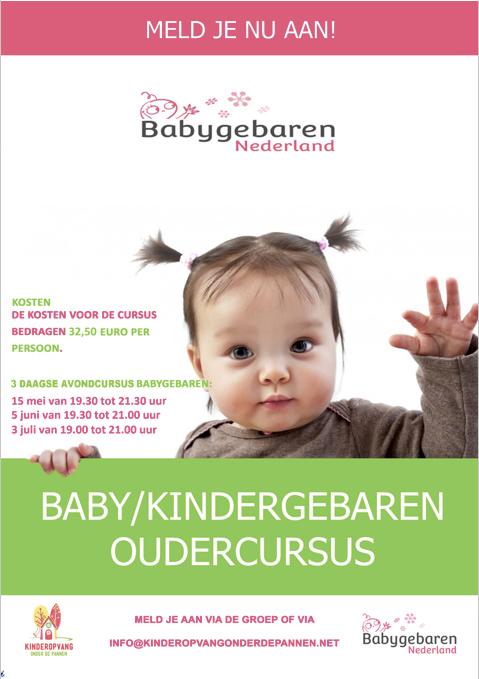 Binnenkort start weer een nieuwe cursus babygebaren. Geef je nu op!