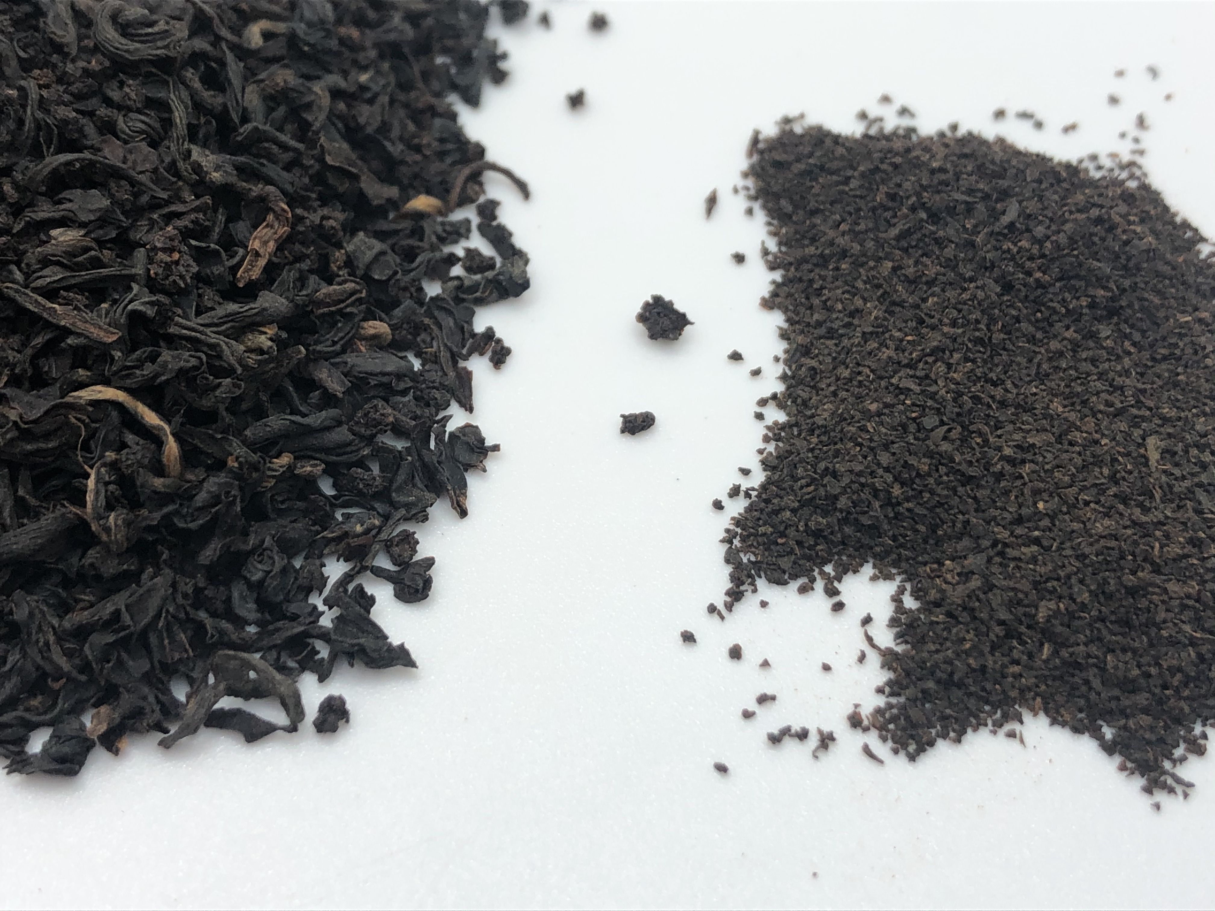 See the difference between a well know brand of tea from a supermarket versus our fabulous loose leaf tea.