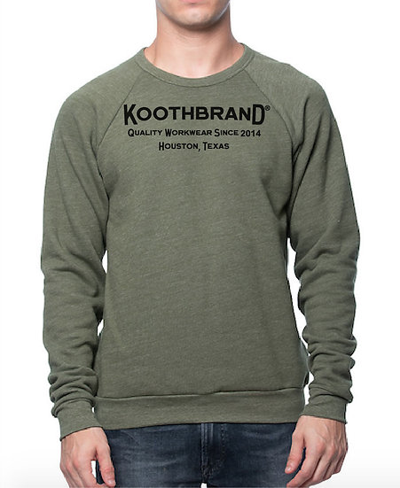 Unisex Logo Sweatshirt- Army Green