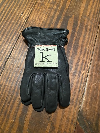 Leather Riding Gloves  -Black