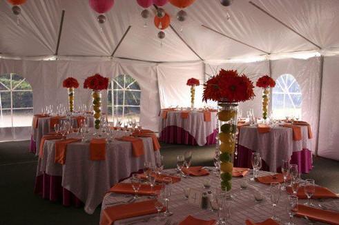 Inside peek at Event Tent