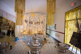 Champagne Fountain & Silver Punch Bowls