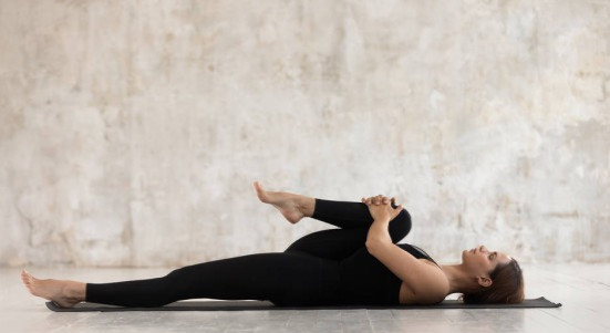 Yoga for Digestion Pose 4 Supine Lying Post