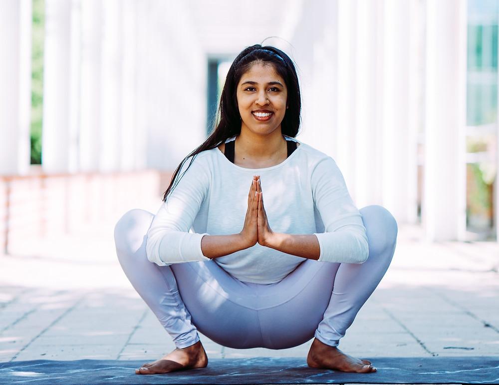 Malasana Garland Pose Yoga for PCOS PCOD