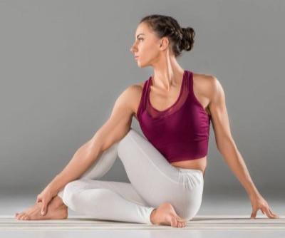 Yoga for Digestion Pose 2 Ardha Matyendrasana