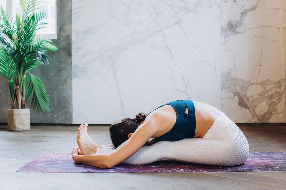 Yoga for Digestion pose 6 Paschimottasana