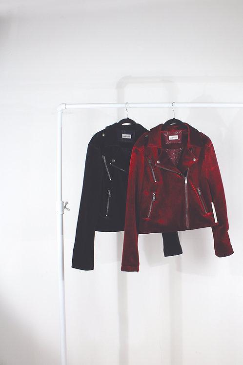 Keera Velvet Moto Jacket