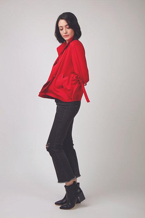 Rose Cropped Bell Sleeve Jacket