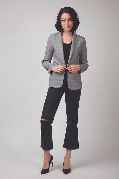 Carrie Long Sleeve Lattice blazer