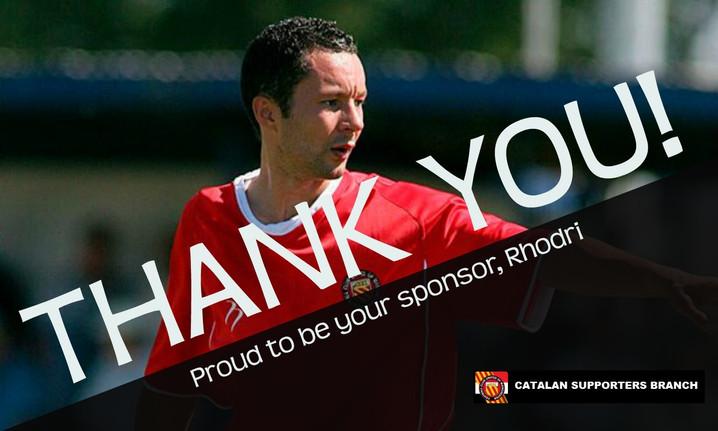 Gràcies Rhodri per tot el que has aportat al Club!
