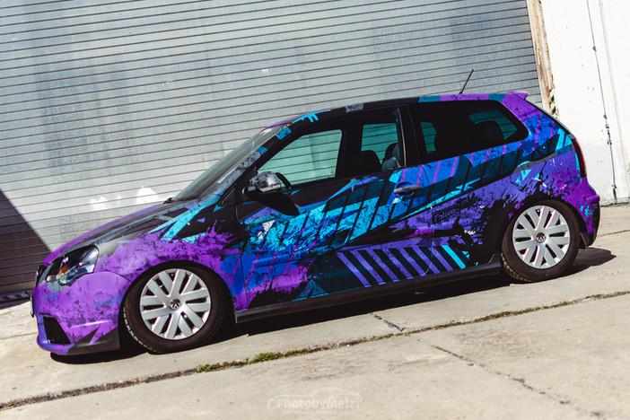 """Digitaldruck """"Dirty"""" für VW Polo GTI"""