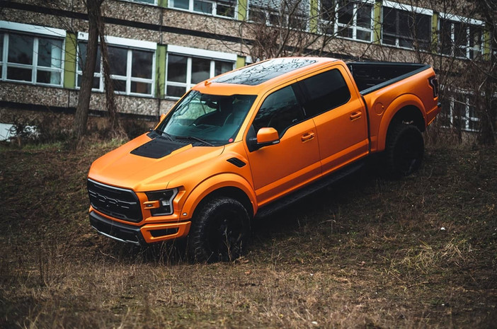 Ford Raptor in Satin metallic stunning Orange